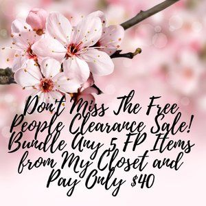 LAST CHANCE Free People Clearance Sale